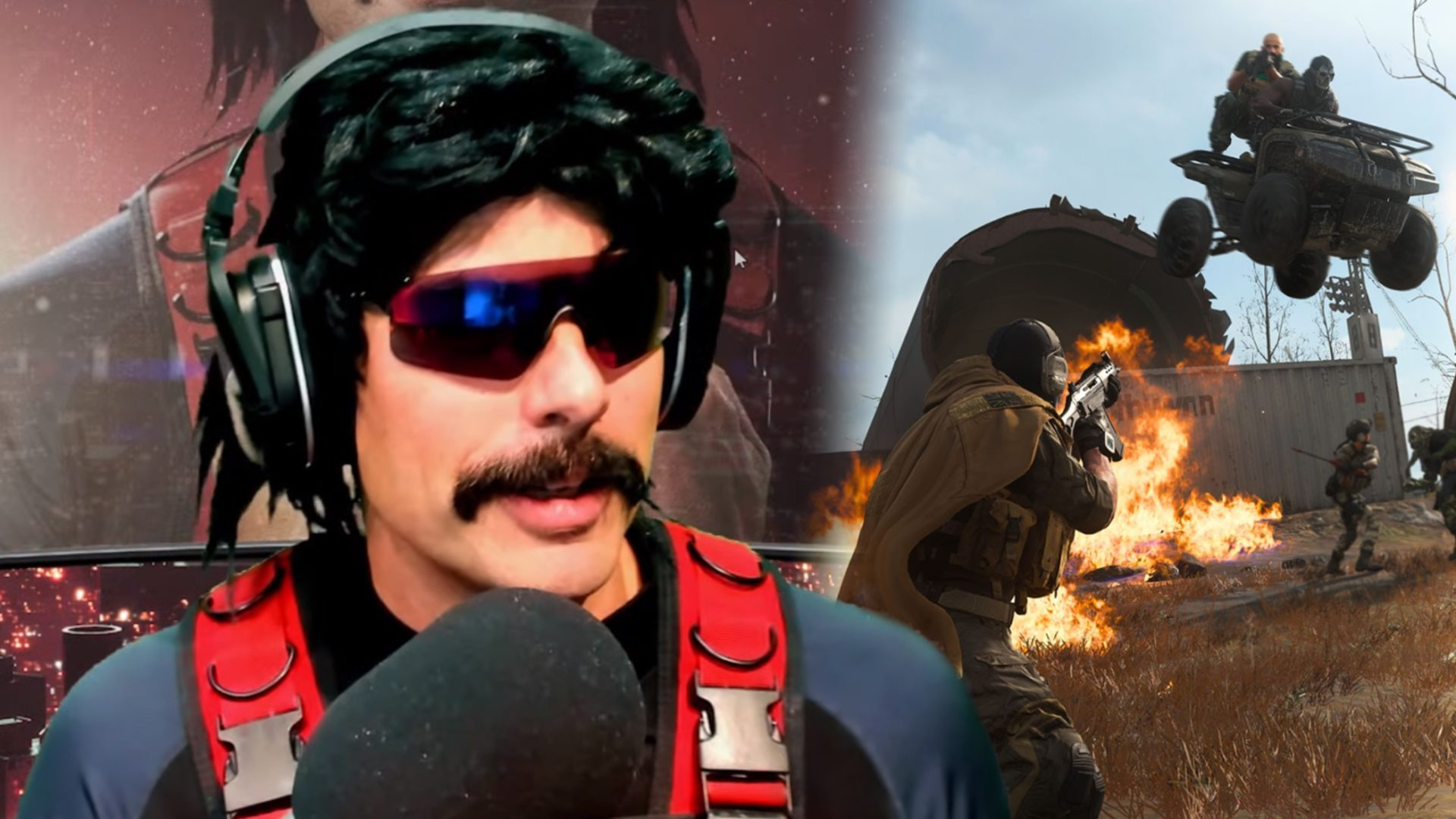 Dr Disrespect playing Warzone