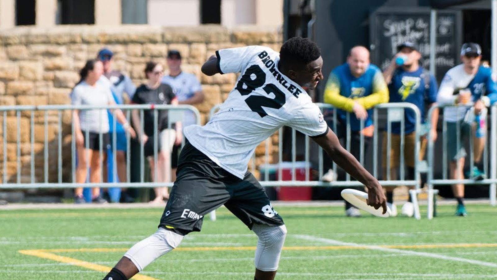 Marques Brownlee playing ultimate frisbee