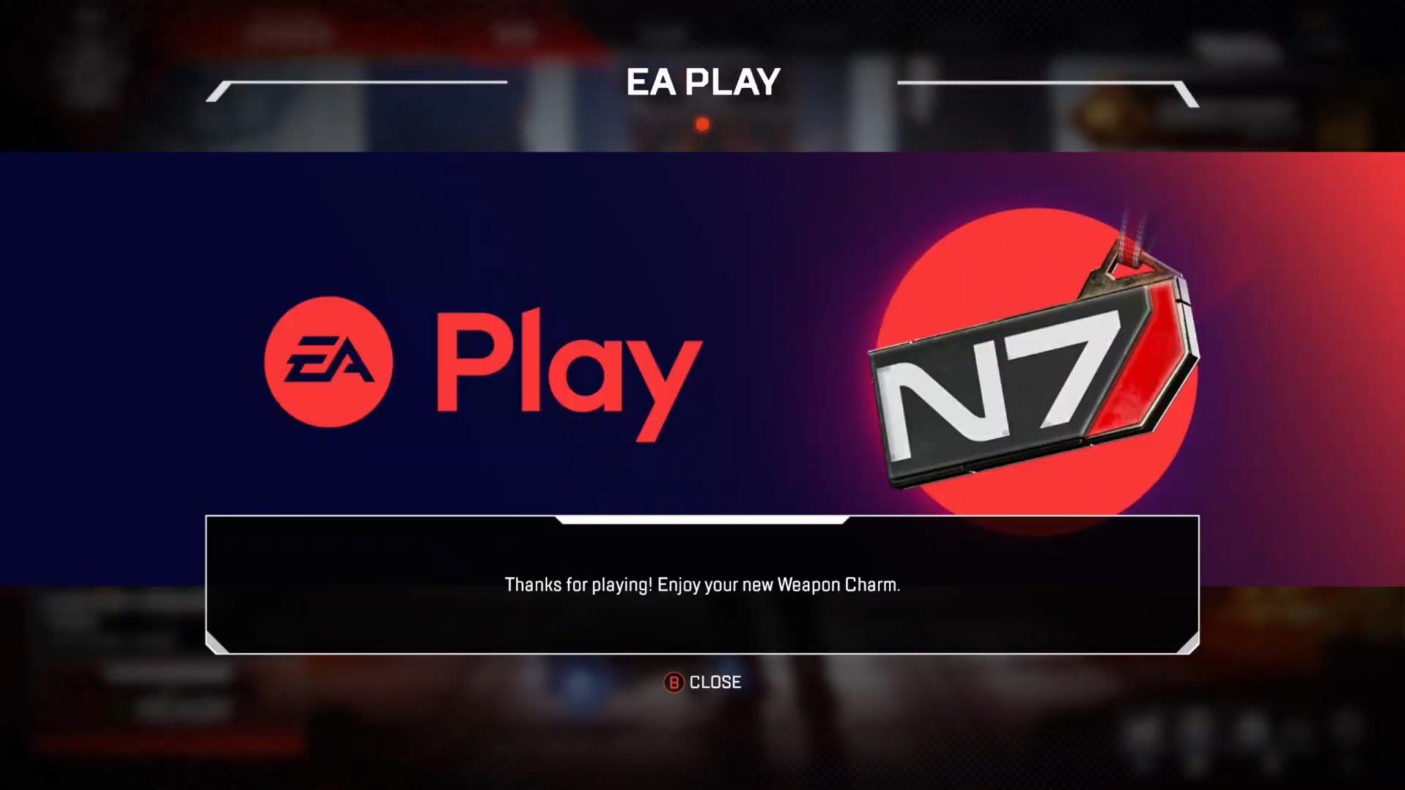 N7 Weapon charm in Apex Legends