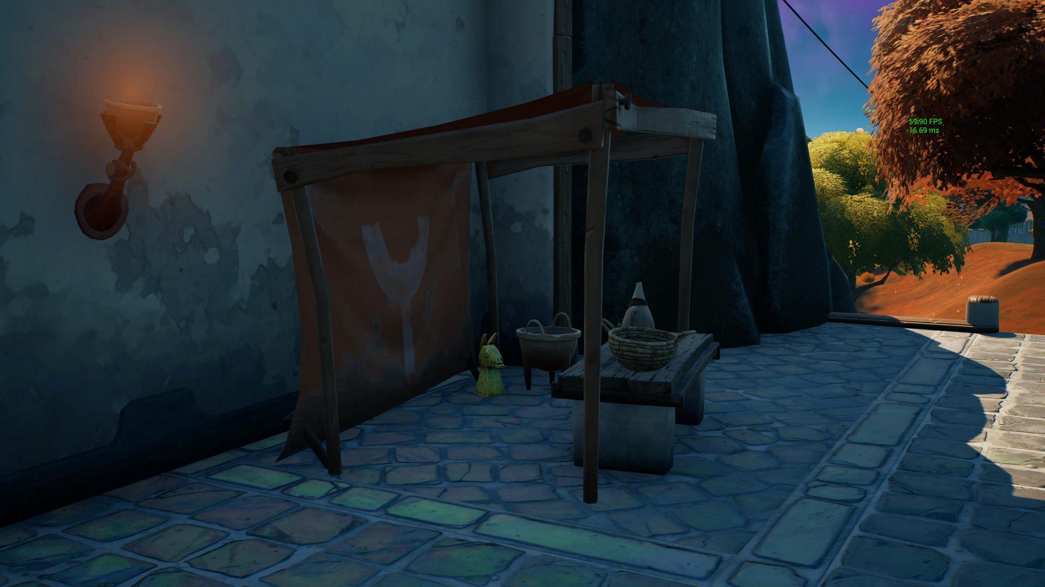 Golden Artifact Location 3 in Fortnite