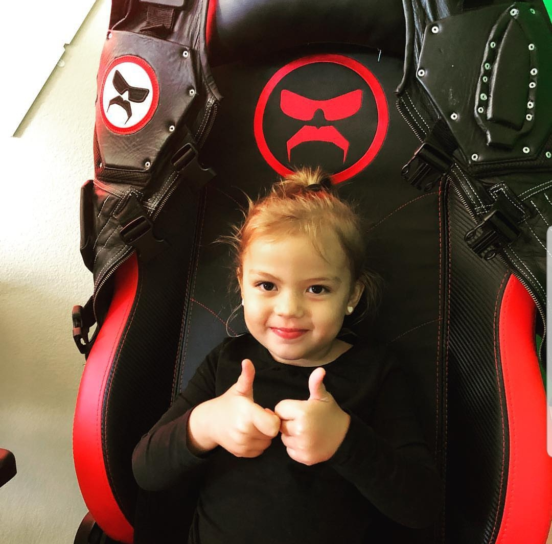 Four-year-old 'Baby Disrespect' is a stream favorite, although her appearances on the Doc's live broadcasts are relatively few and far between.