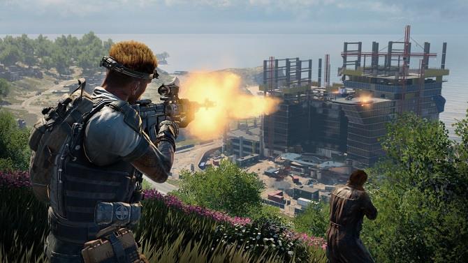 Player in Black Ops' Blackout battle royale.