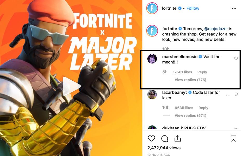 Instagram: Fortnite