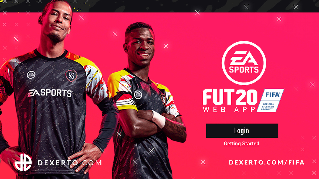 Login screen for FIFA 20 Web App