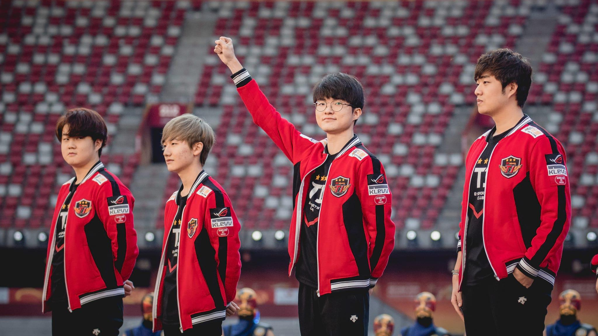 Faker with SKT at Worlds 2017