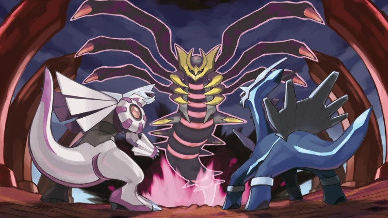 Palkia, Dialga, and Giratina