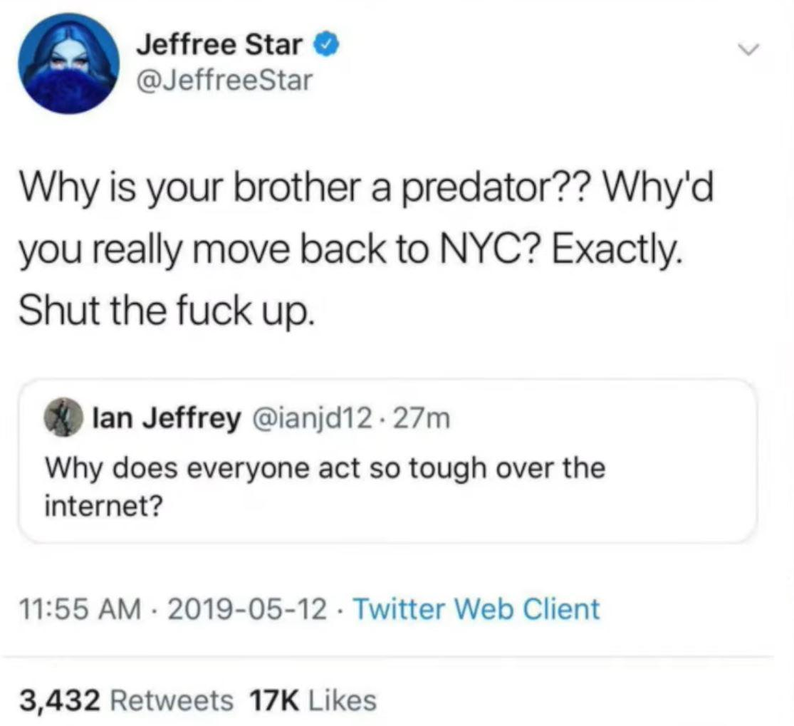 Jeffree Star, Twitter / James Charles, YouTube