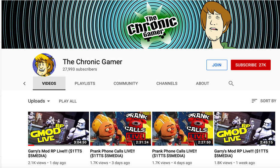 YouTube: The Chronic Gamer