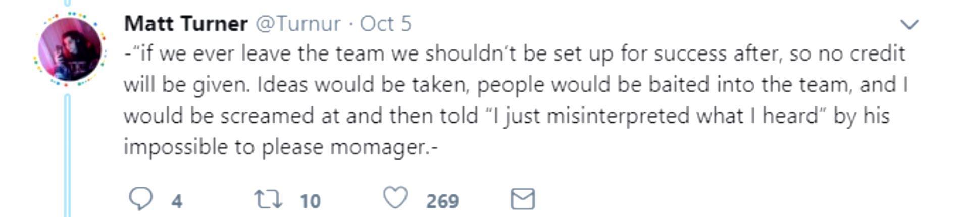 Turner, Twitter / Drama Alert, YouTube