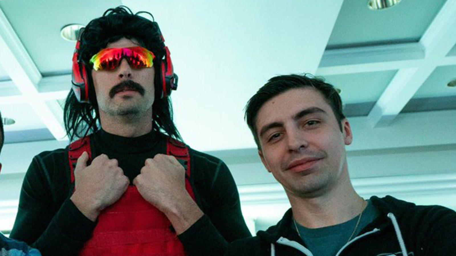 An image of Shroud and Dr Disrespect standing together