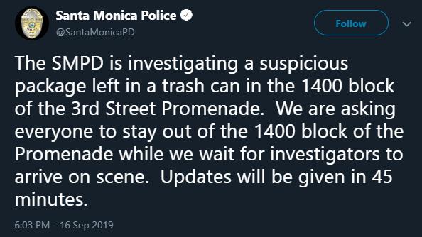 Santa Monica Police, Twitter