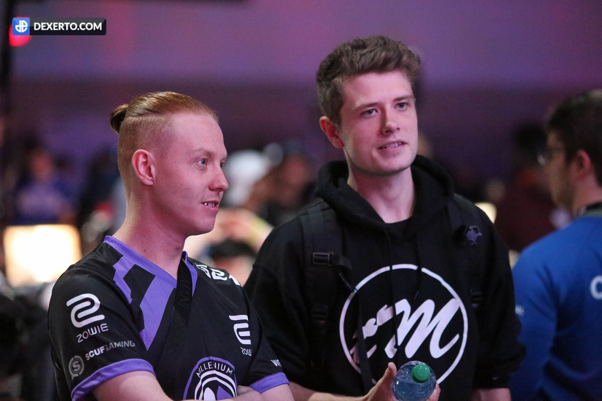 Denz (right) representing Tainted Minds during IW