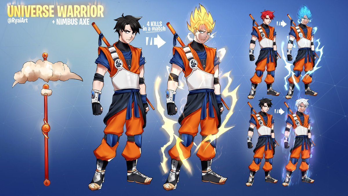 These Dragon Ball Z Fortnite Skins Are So Cool That Ninja Would Pay 100 For Each Dexerto