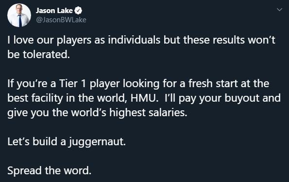 Jason Lake Twitter