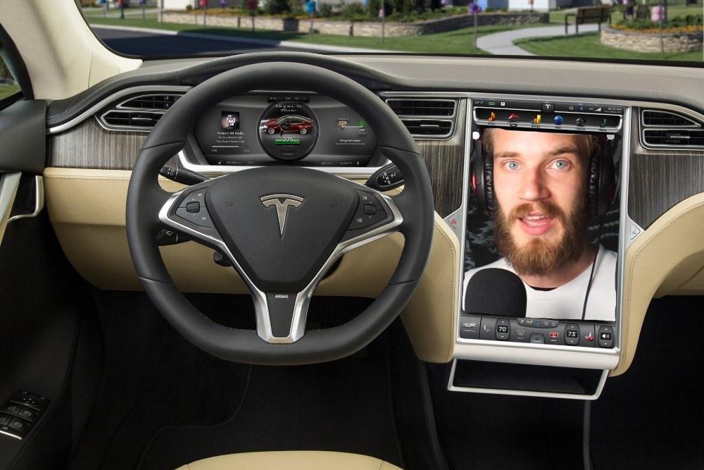 Tesla / YouTube: PewDiePie