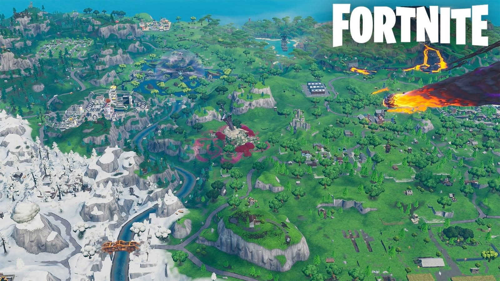 Fortnite Leak Drops Biggest Hint Of Map Being Destroyed Yet Dexerto This is a brand new map that looks very little like the old fortnite map, other than in general, being an island. fortnite leak drops biggest hint of map