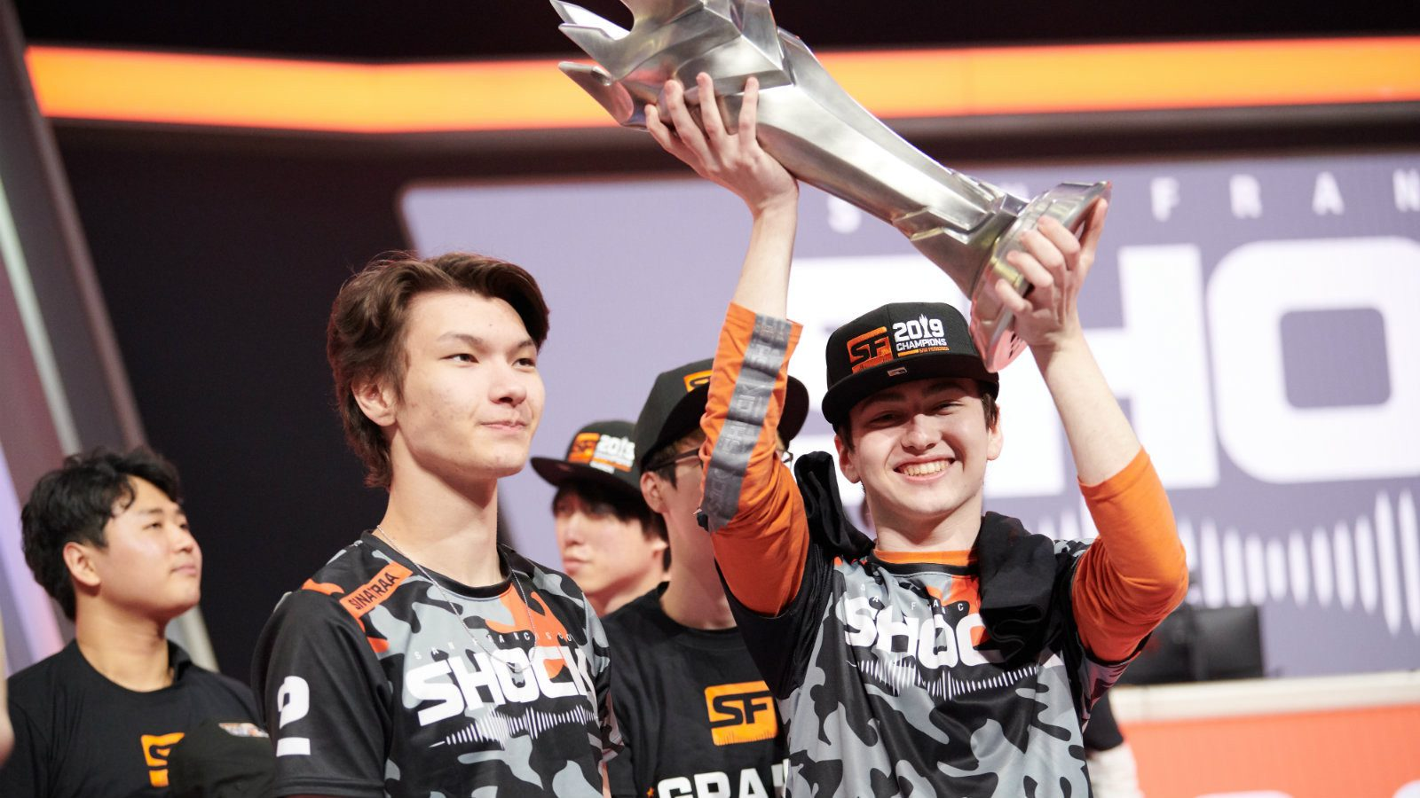 Sinatraa and Super in OWL Grand Finals