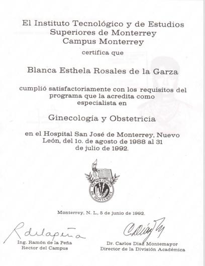 Blanca Esthela Rosales De La Garza - Galería de imágenes