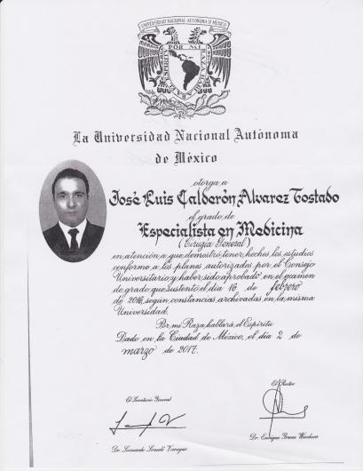 José Luis Calderón Alvarez Tostado - Galería de imágenes