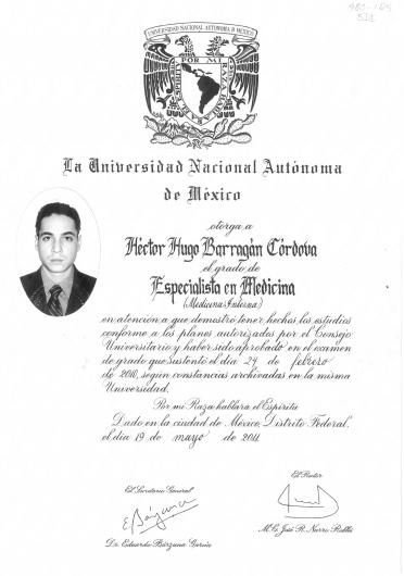 Héctor Hugo Barragán Córdova - Multimedia