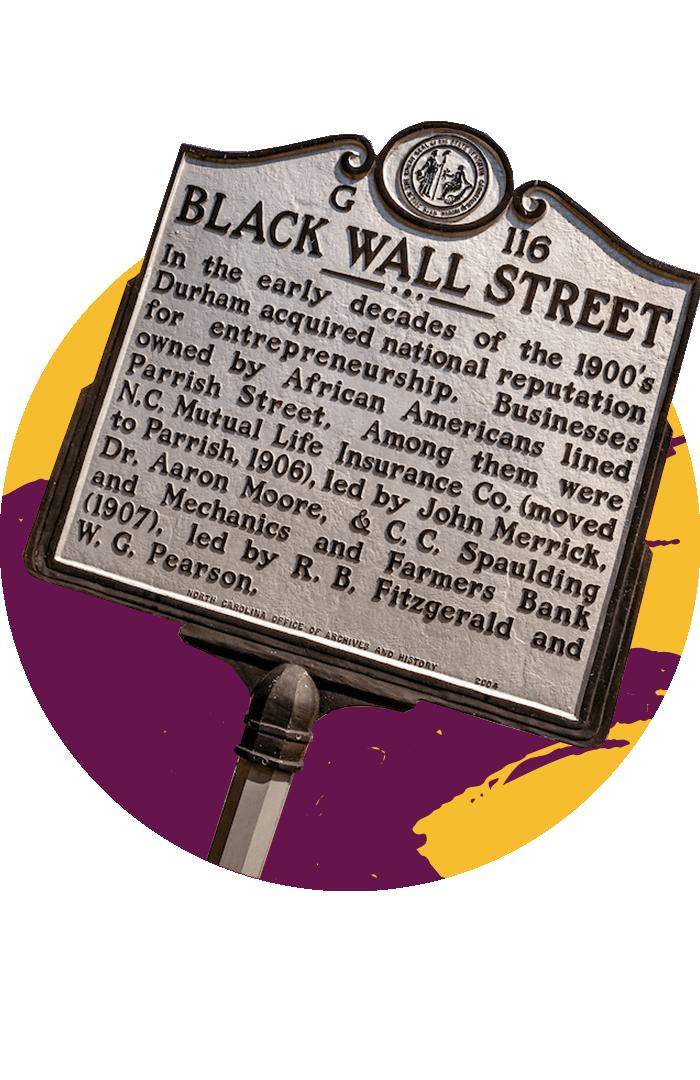 Black Wall Street historic marker sign
