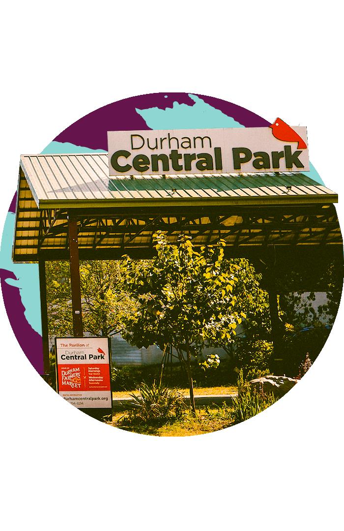 The pavilion at Durham Central Park