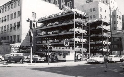 Old Stacked Car Parking