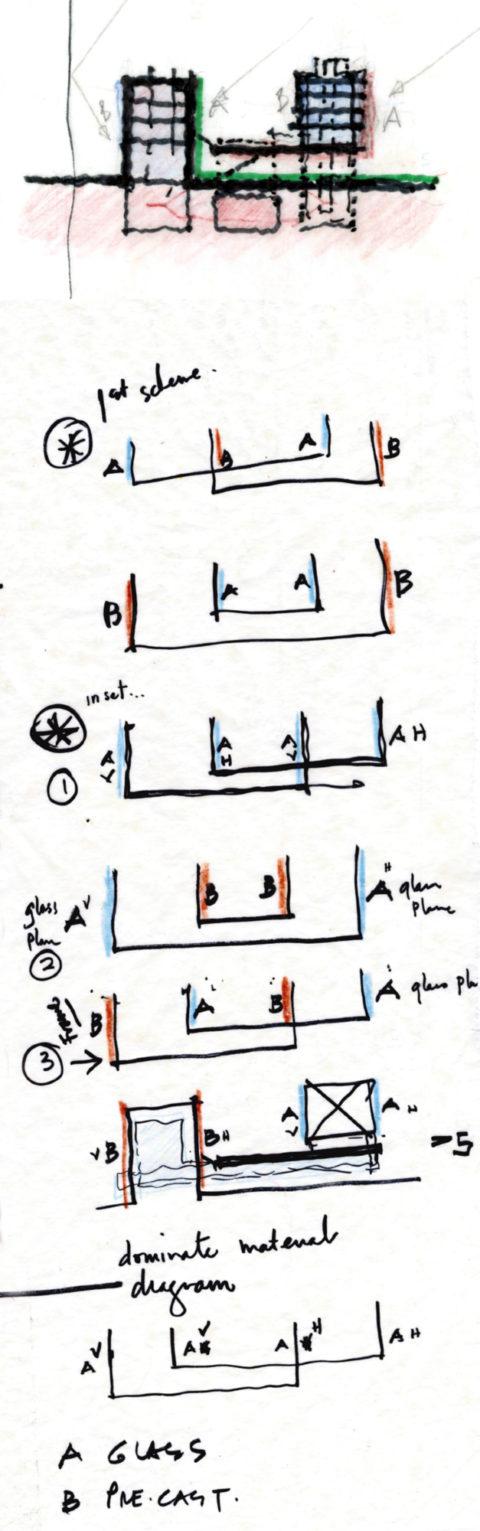 0033 Lycee Facade Sketch