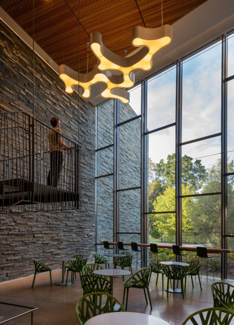 Bridge For Laboratory Sciences Interior Lobby © Richard Barnes