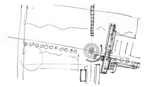 9908 Clinton Napkin Sketch