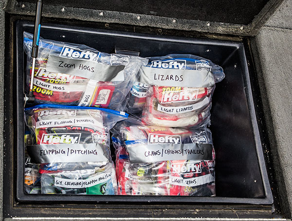 How to organize your bass fishing gear the hunting page for Where can i buy worms for fishing near me