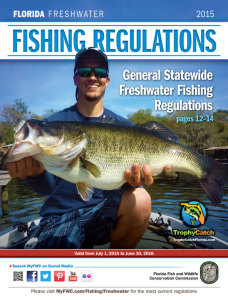2015 Florida Freshwater Fishing Regulations