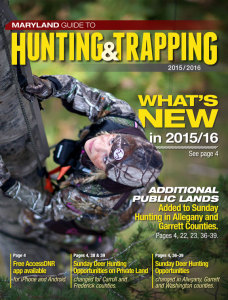 The Official 2015-2016 Maryland Hunting & Trapping Guide  from the Maryland Department of Natural Resources