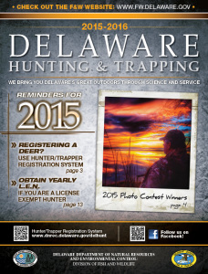2015-2016 Delaware Hunting and Trapping Guide