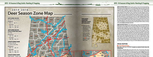 Deer Season Zone Map