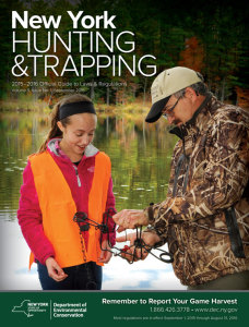 2015-2016 New York Hunting & Trapping Regulations Guide - The official guide from the New York Department of Environmental Conservation