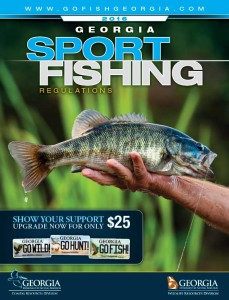 Georgia Freshwater Sport Fishing Regulations 2016 cover