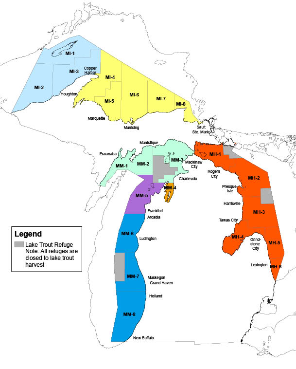 Great Lakes Trout Splake Regulations Michigan Fishing