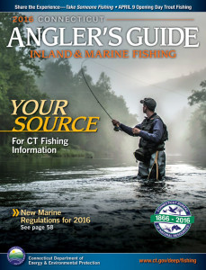 Connecticut Angler's Guide on Inland & Marine Fishing 2016-2017 cover