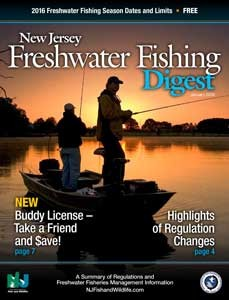 New Jersey Freshwater Fishing Digest 2016 cover