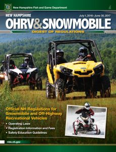 New Hampshire ATV & Snowmobile Regulations 2016 cover