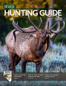 Nevada Hunting Guide 2016 cover