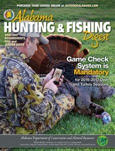 Alabama Hunting & Fishing Digest 2016 Cover