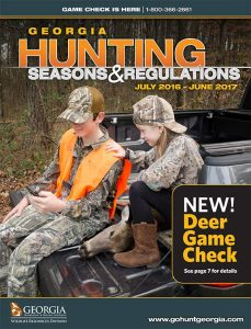 Georgia Hunting Seasons & Regualtions 2016-2017 cover