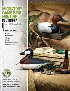Virginia Migratory Game Bird Hunting 2016-2017 cover