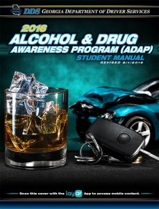Georgia Alcohol & Drug AwarenessProgramm (ADAP) Students Manual 2016 Cover