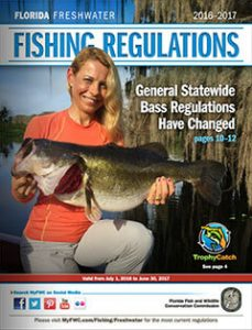 Florida Freshwater Fishing Regulations 2016 cover
