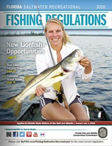 Florida Saltwater Recreational Fishing Regulations 2016 cover