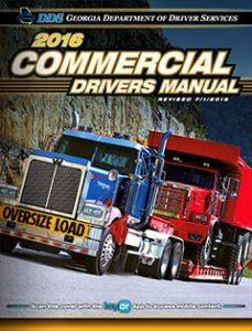 Georgia Commercial Drivers manual 2016 cover