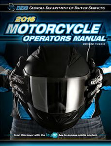 Georgia Motorcycle Operators Manual 2016 cover